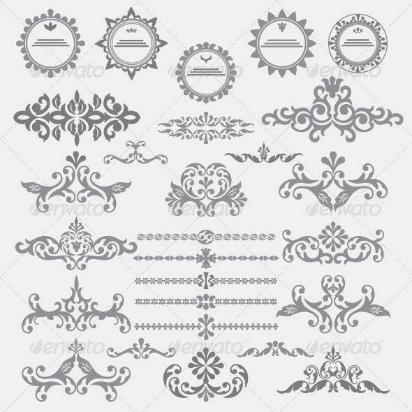 Vintage Design Elements 85 - Decorative Vectors