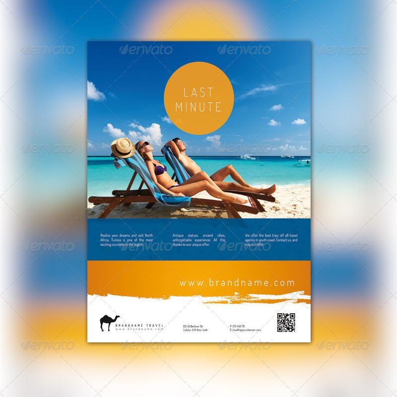 travel agency flyer by pixelonpl