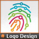 Digitally Circuits Security Finger Print Logo Temp - GraphicRiver Item for Sale