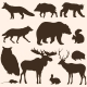 Vector Set of Forest Animals Silhouettes - GraphicRiver Item for Sale