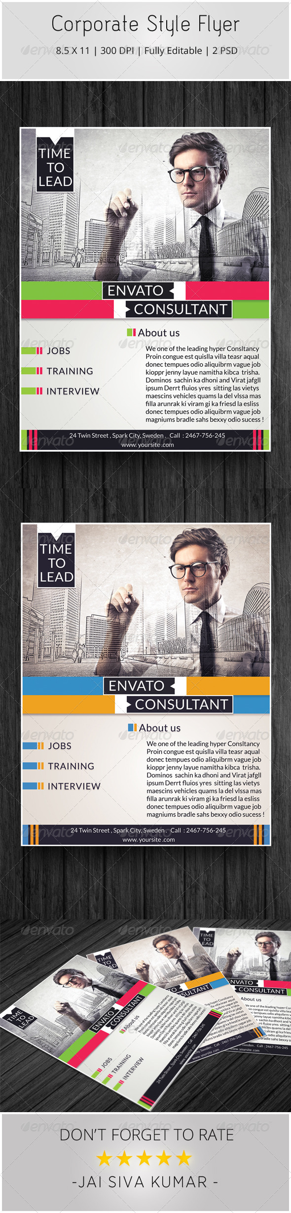 Corporate Style Flyer - Corporate Flyers