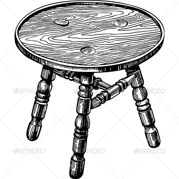 Stool - Man-made Objects Objects