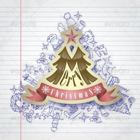 Christmas Sticker. - Christmas Seasons/Holidays