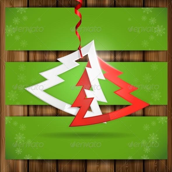 Simple Paper Christmas Tree - Christmas Seasons/Holidays