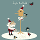 Santa Feeding Birds in Snow - GraphicRiver Item for Sale
