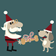 Santa Giving his Dog a Christmas Bone - GraphicRiver Item for Sale