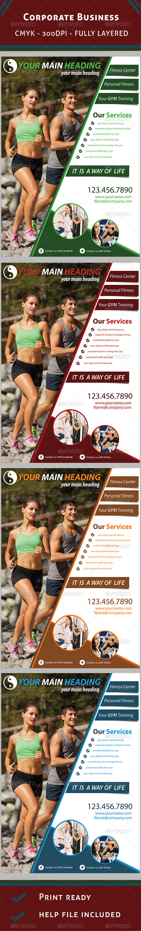 Fitness Flyer - Clubs & Parties Events