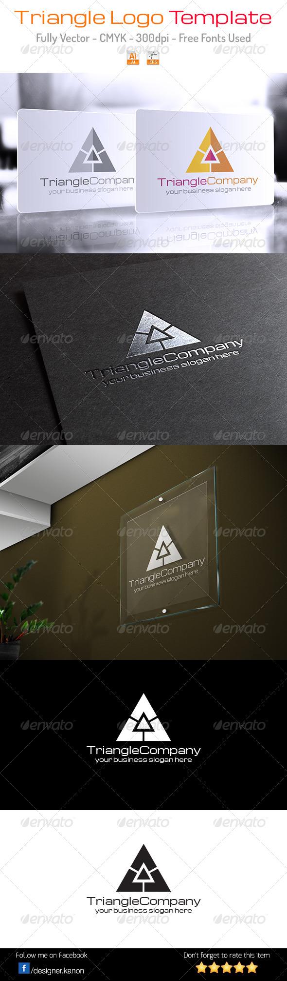 Triangle Company Logo - Symbols Logo Templates