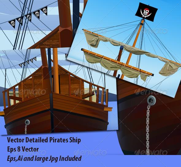 Pirates Ship - Travel Conceptual