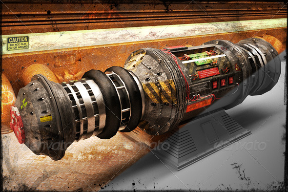 3D Nuclear Bomb - Objects 3D Renders