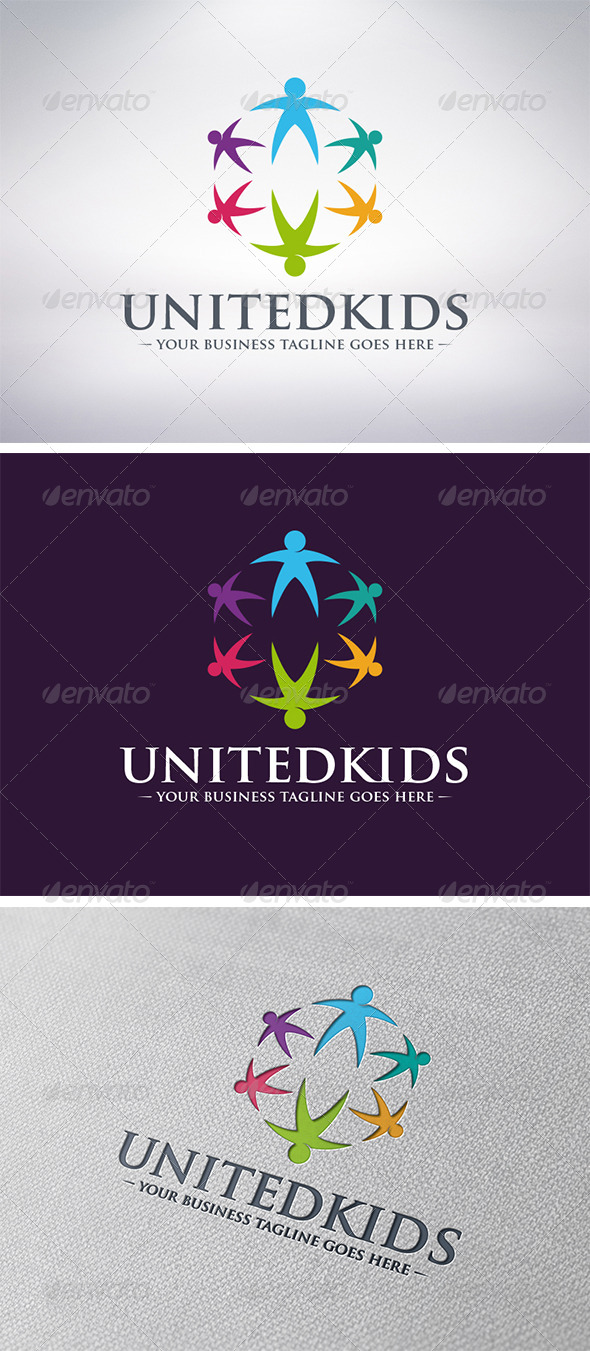 Kids World Logo - Humans Logo Templates