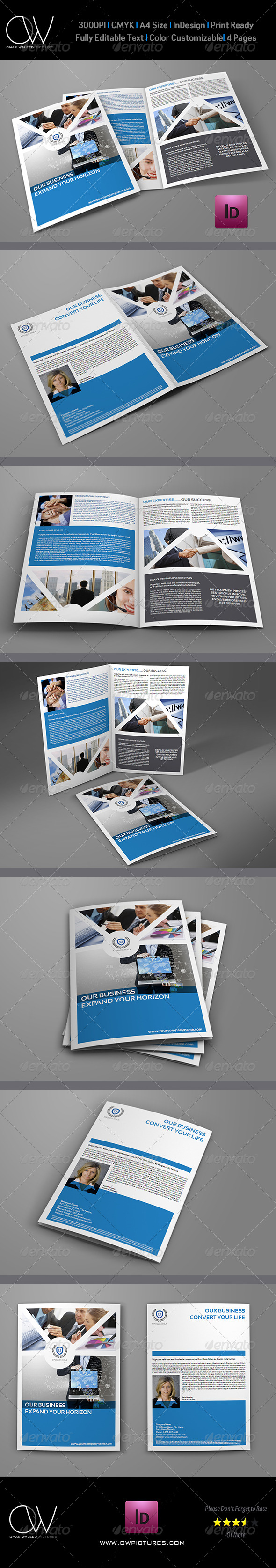 Company Brochure Bi-Fold Template Vol.3 - Corporate Brochures