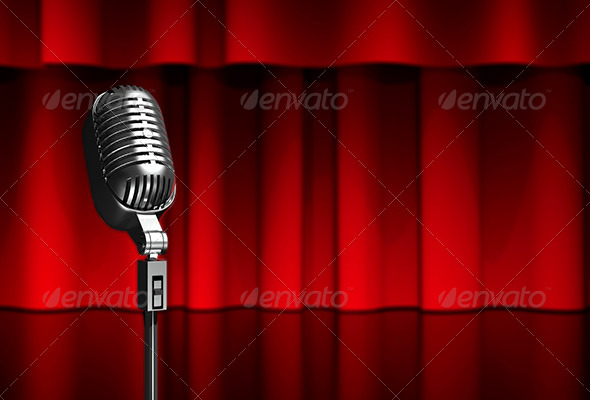 Microphone on Scene - 3D Backgrounds