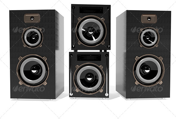 Speakers - Objects 3D Renders