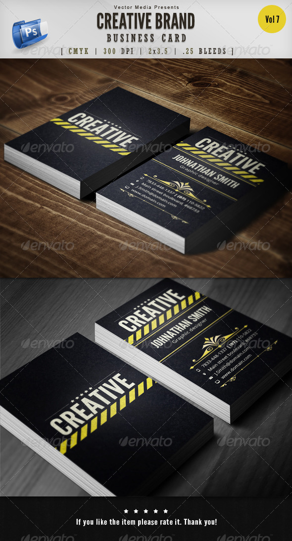 Creative Brand - Business Card [Vol.7] - Creative Business Cards