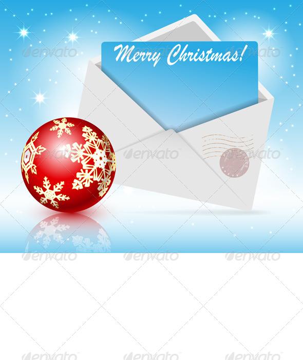 Christmas Toys and Envelope  - Christmas Seasons/Holidays