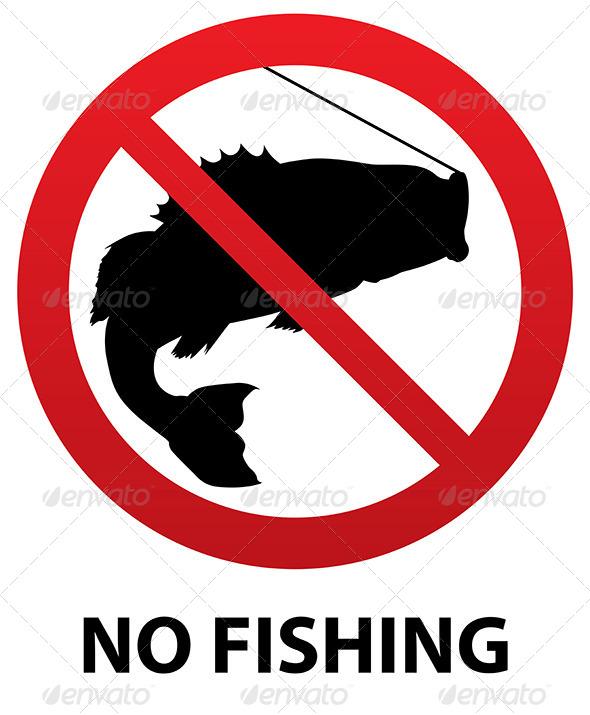 No Fishing Sign - Miscellaneous Vectors