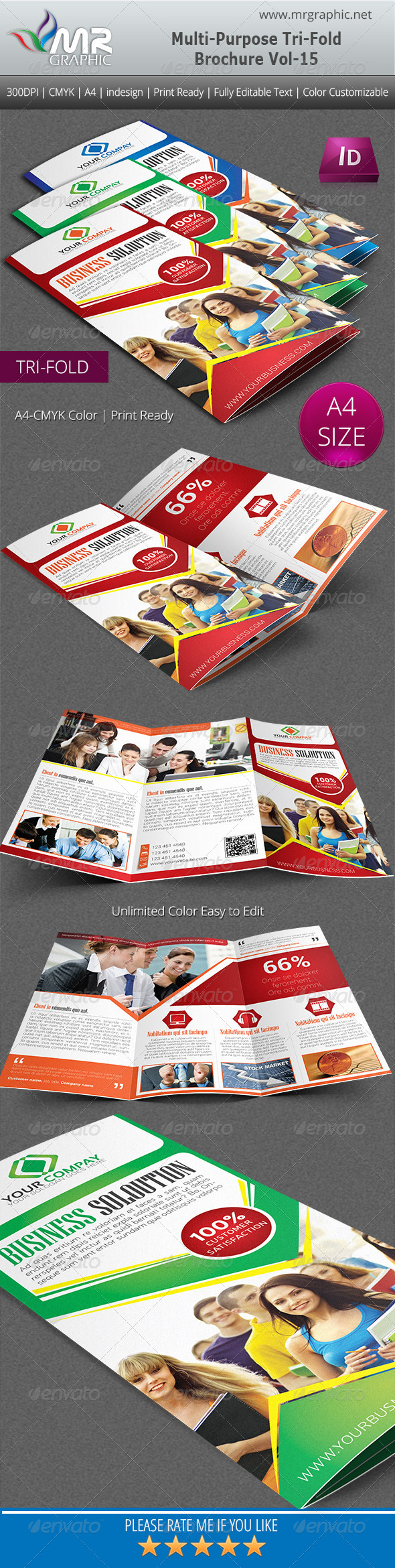 Multipurpose Business Tri-Fold Brochure Vol-15 - Corporate Brochures