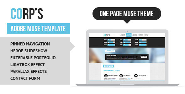 Corporate Adobe Muse Template