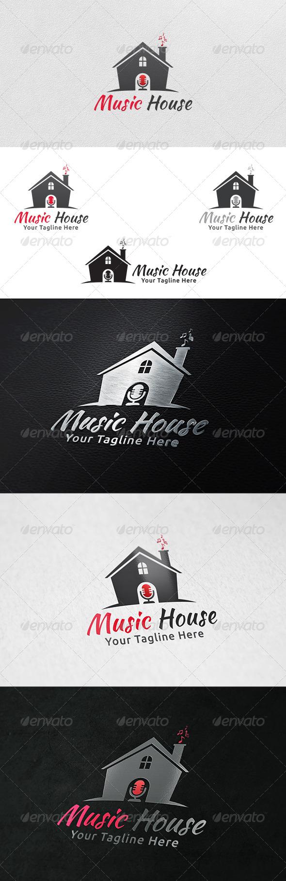 Music House - Logo Template - Symbols Logo Templates