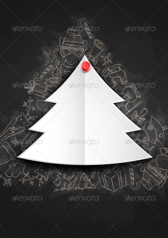Merry Christmas Stylish Tree.  - Christmas Seasons/Holidays