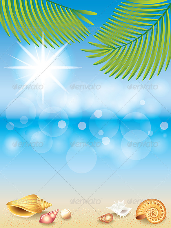 Summer Holidays Vector Background. - Seasons/Holidays Conceptual