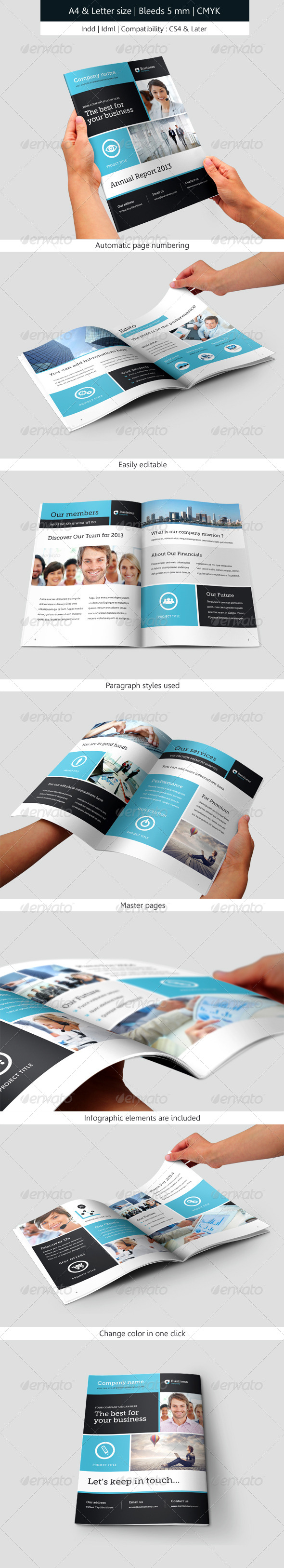 Corporate Brochure Template Annual Report - Informational Brochures