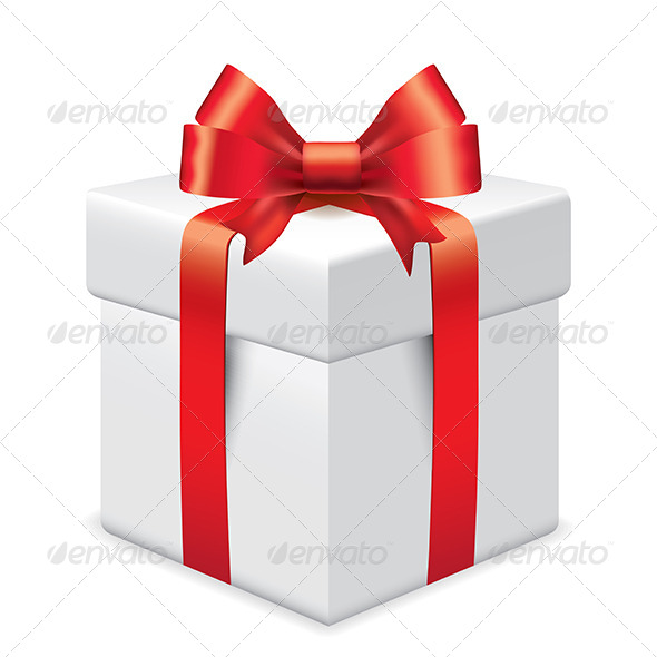 Photo-Realistic Gift Box Vector Illustration - Christmas Seasons/Holidays