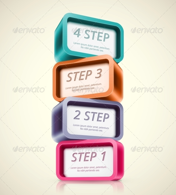 Four Steps - Backgrounds Business