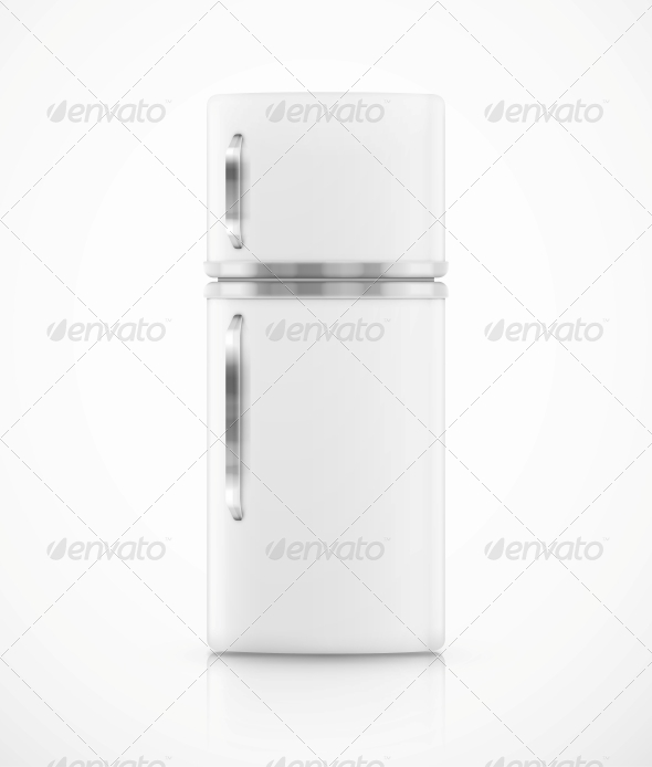 Isolated Fridge - Man-made Objects Objects