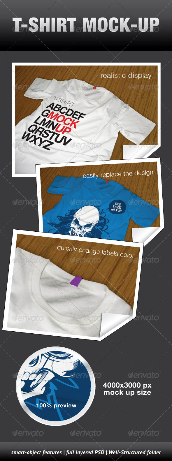 T-Shirt Mock-Up - T-shirts Apparel