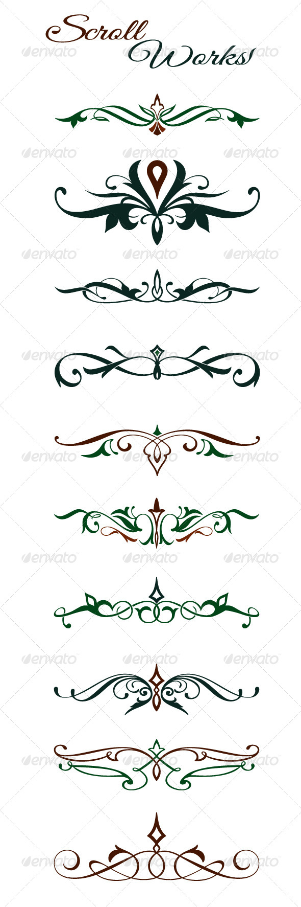 Scroll Design Elements - Flourishes / Swirls Decorative