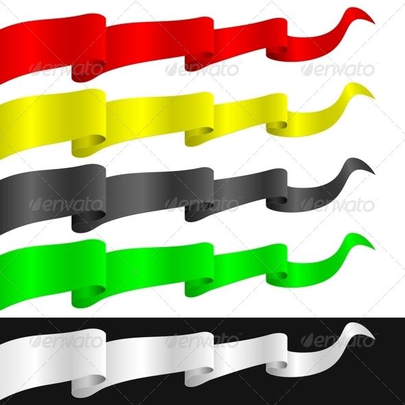 Fluttering Ribbons - Objects Vectors