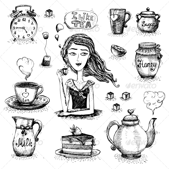 Love of Tea Scene - People Characters