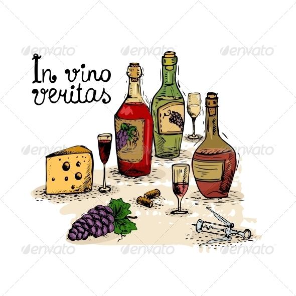 Wine Still Life - Food Objects