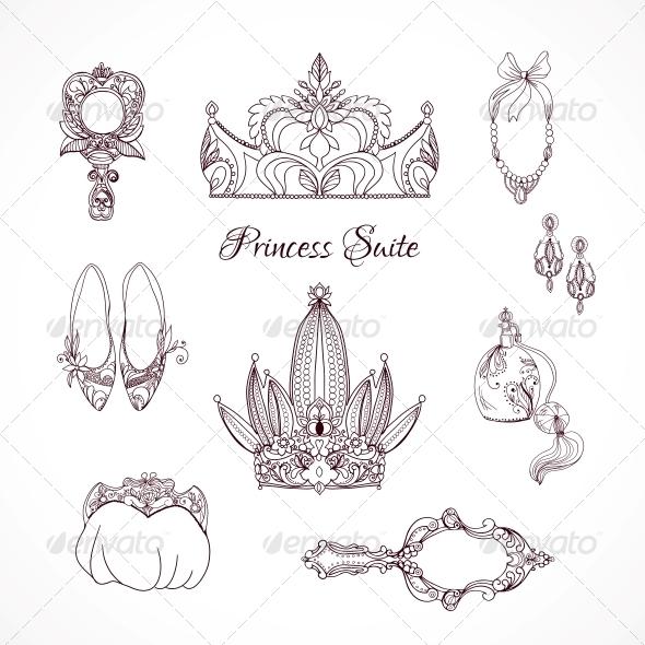 Princess Design Elements - Decorative Symbols Decorative