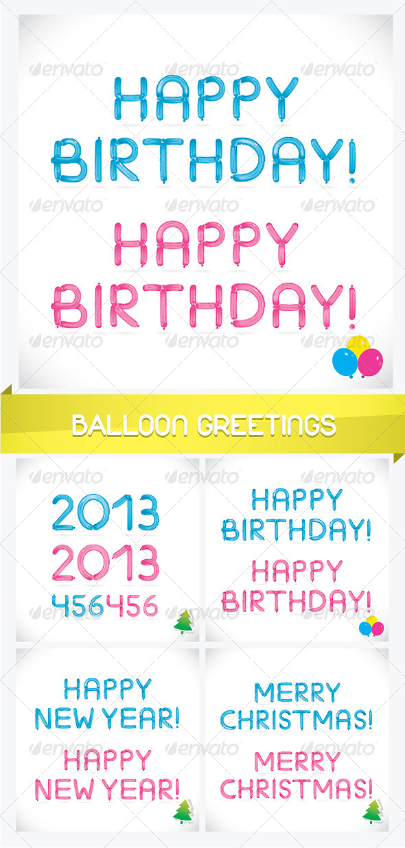Unique Glossy Balloon Greetings - Miscellaneous Characters