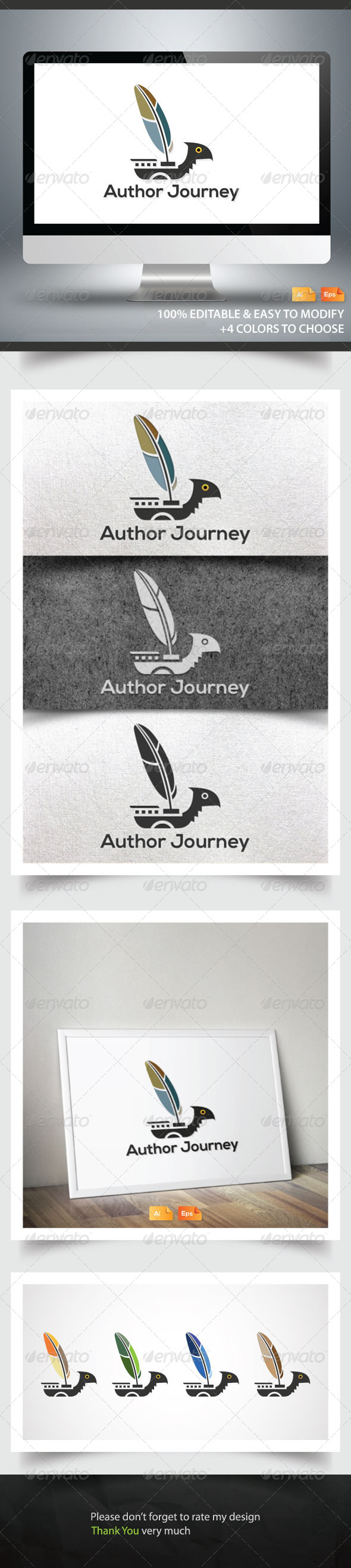 Author Journey - Objects Logo Templates