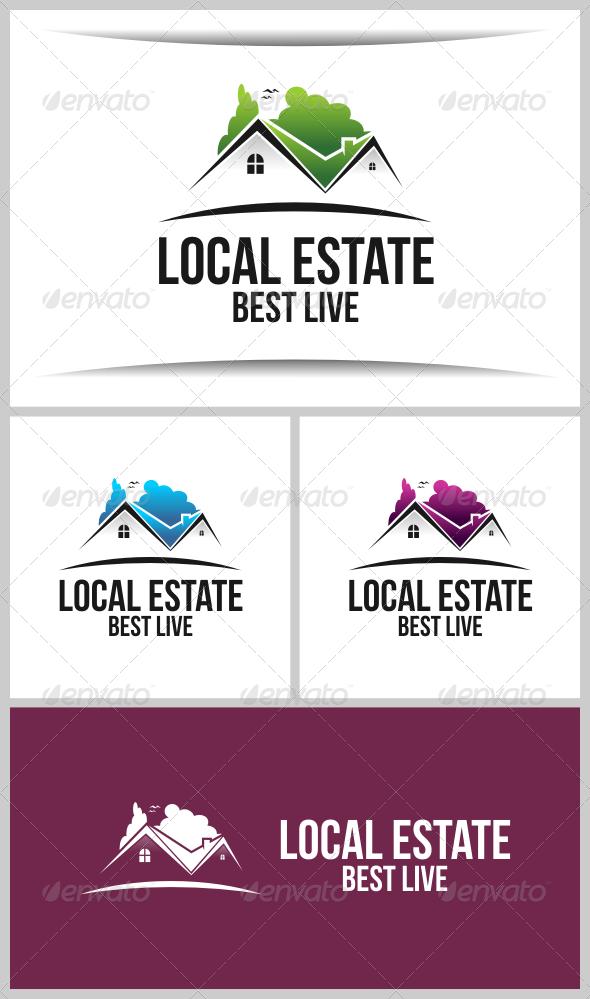 Local Estate - Buildings Logo Templates