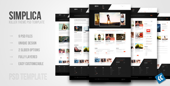 Free Download SIMPLICA | Another killer theme PSD template Nulled Latest Version