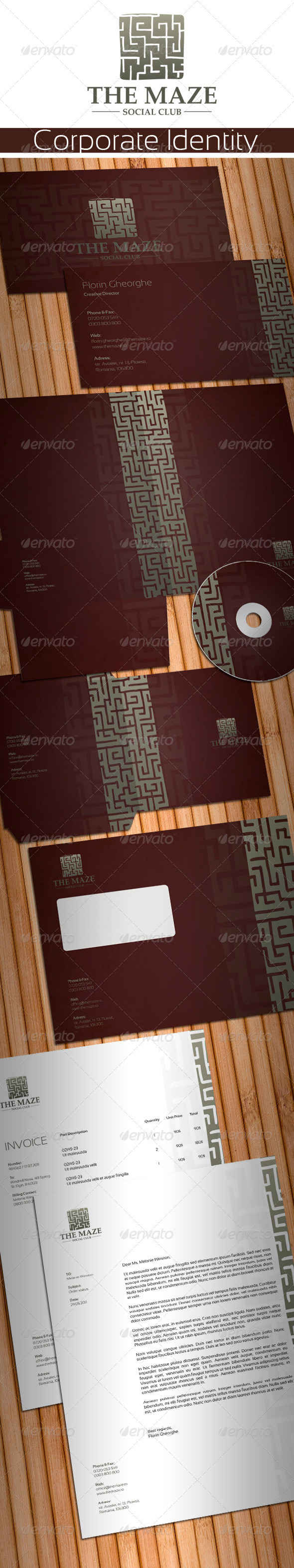 The Maze Social Club Stationery - Stationery Print Templates