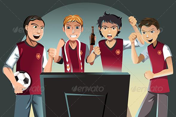 Soccer Fans - Sports/Activity Conceptual