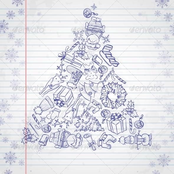 Hand Drawn Christmas Set - Christmas Seasons/Holidays