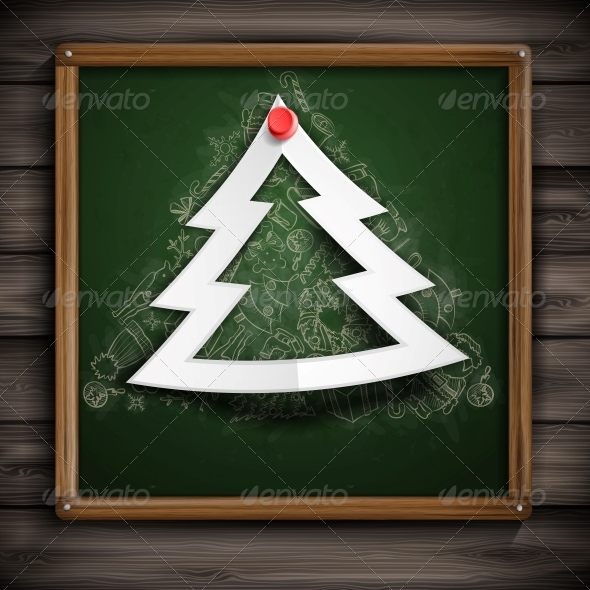 Merry Christmas Stylish Tree. - Christmas Seasons/Holidays