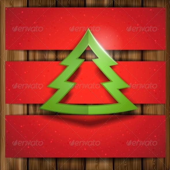 Simple Paper Christmas Tree. - Christmas Seasons/Holidays
