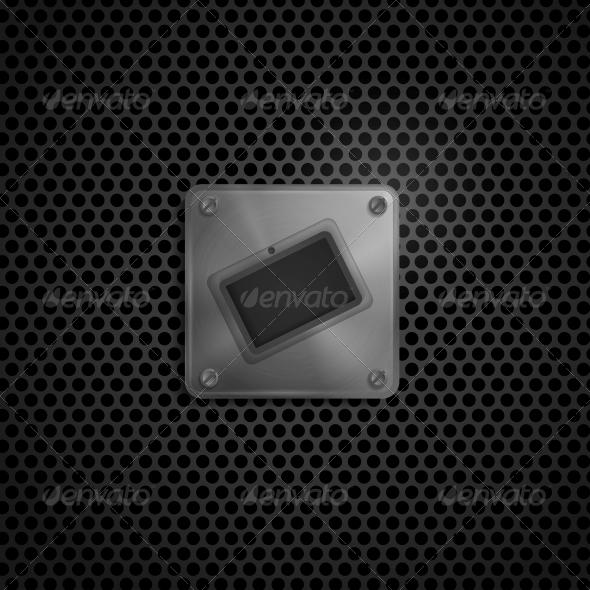 Metal Smart Phone  - Web Elements Vectors