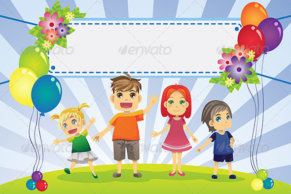 Fun Family Banner - Decorative Vectors