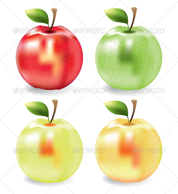Vector Apples - Food Objects