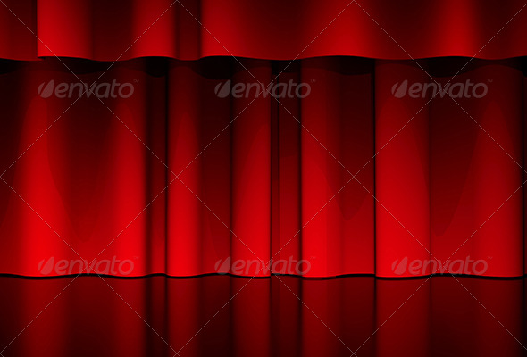 Curtain Scene - 3D Backgrounds