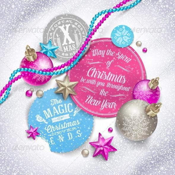 Cardboard Labels with Christmas Greetings - Christmas Seasons/Holidays